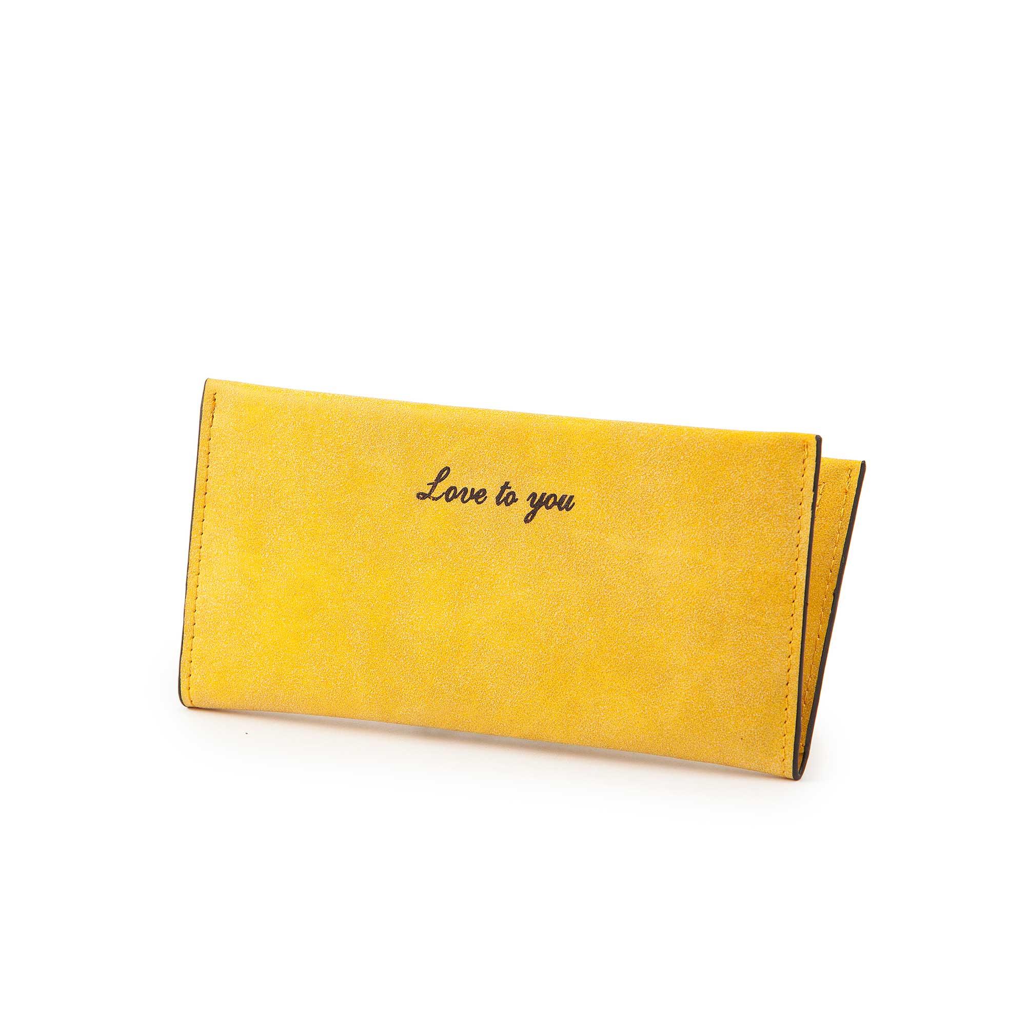 ארנק צהוב פסטלי