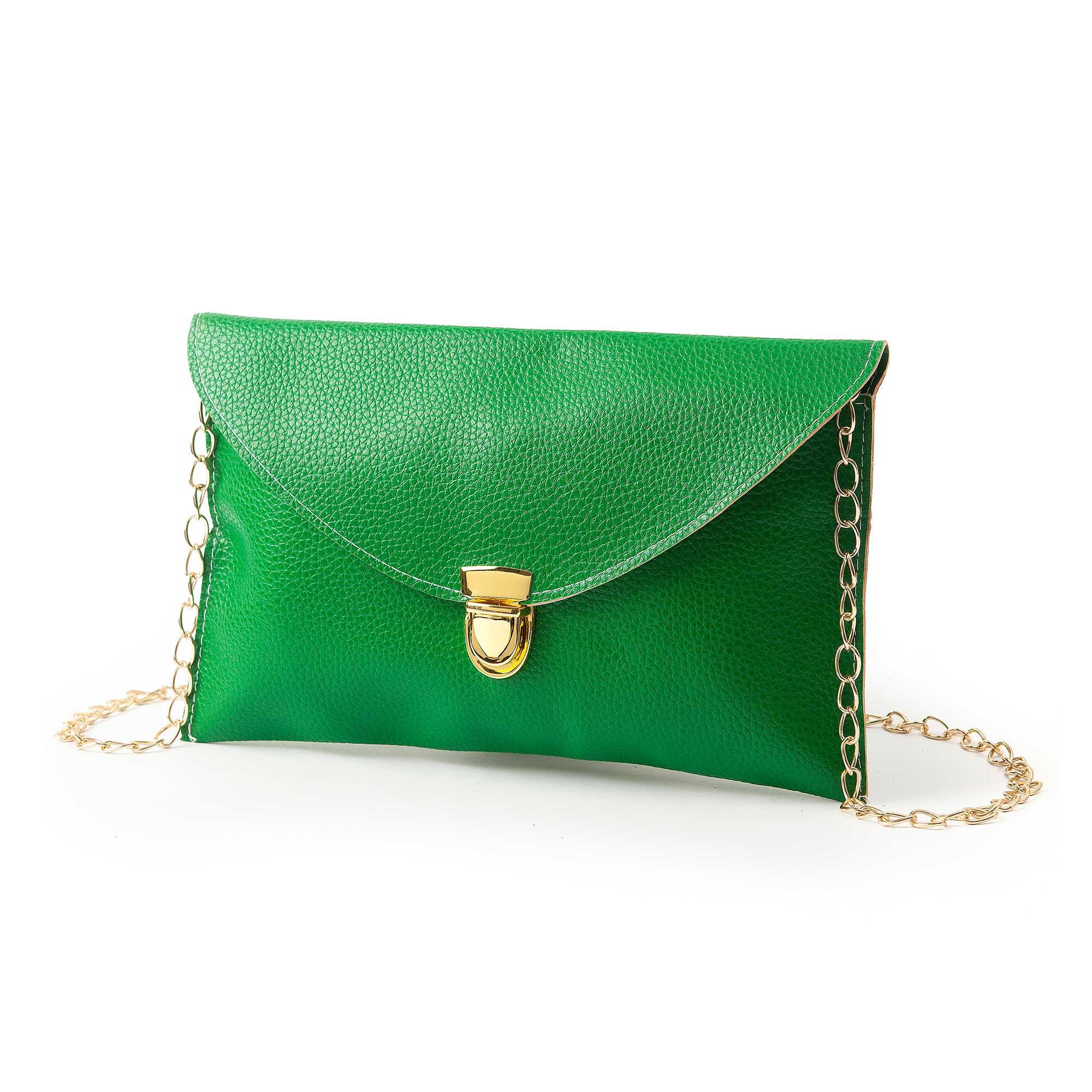תיק מעטפה רטרו ירוק